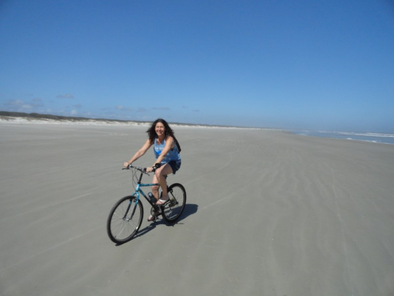 St Simons cycle on the beach