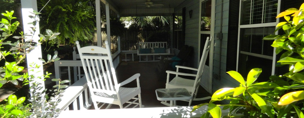 St Simons Island Vacation Rental Porch